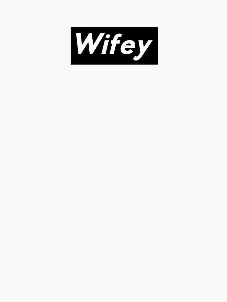 Wifey White Letters Black Background by coasthouse