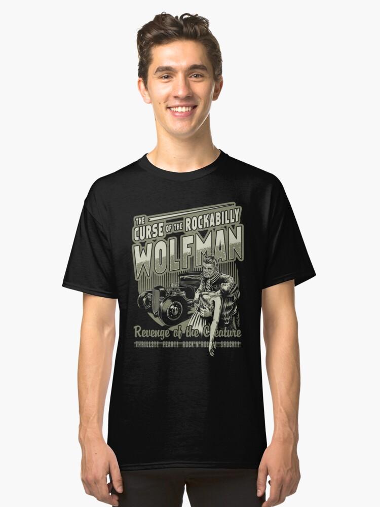 Rockabilly Wofman Classic T-Shirt Front