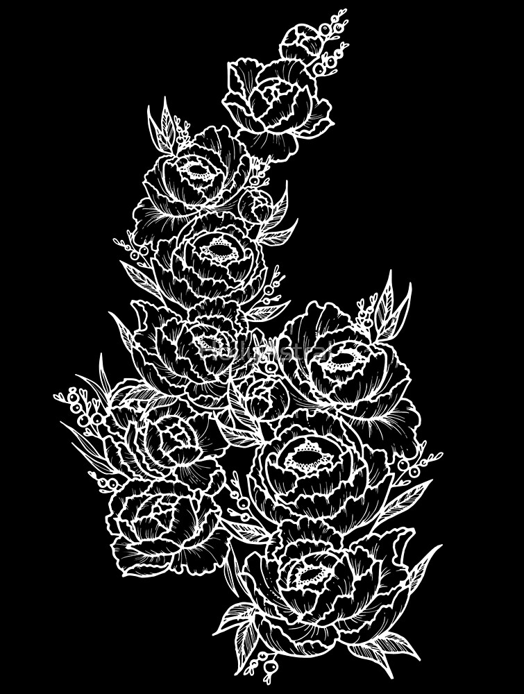 Black Peonies by HollyAstral