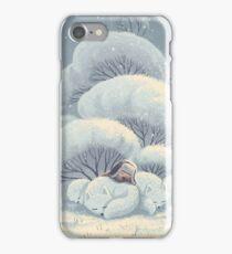 Arctic Fox Huddle iPhone Case/Skin