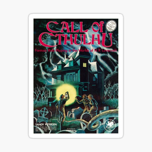 Call of Cthulhu 1st Edition Cover Sticker