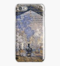 Claude Monet - The Saint Lazare Station (1877)  iPhone Case/Skin