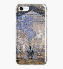 Claude Monet - The Saint Lazare Station (1877)  iPhone Case/Skin