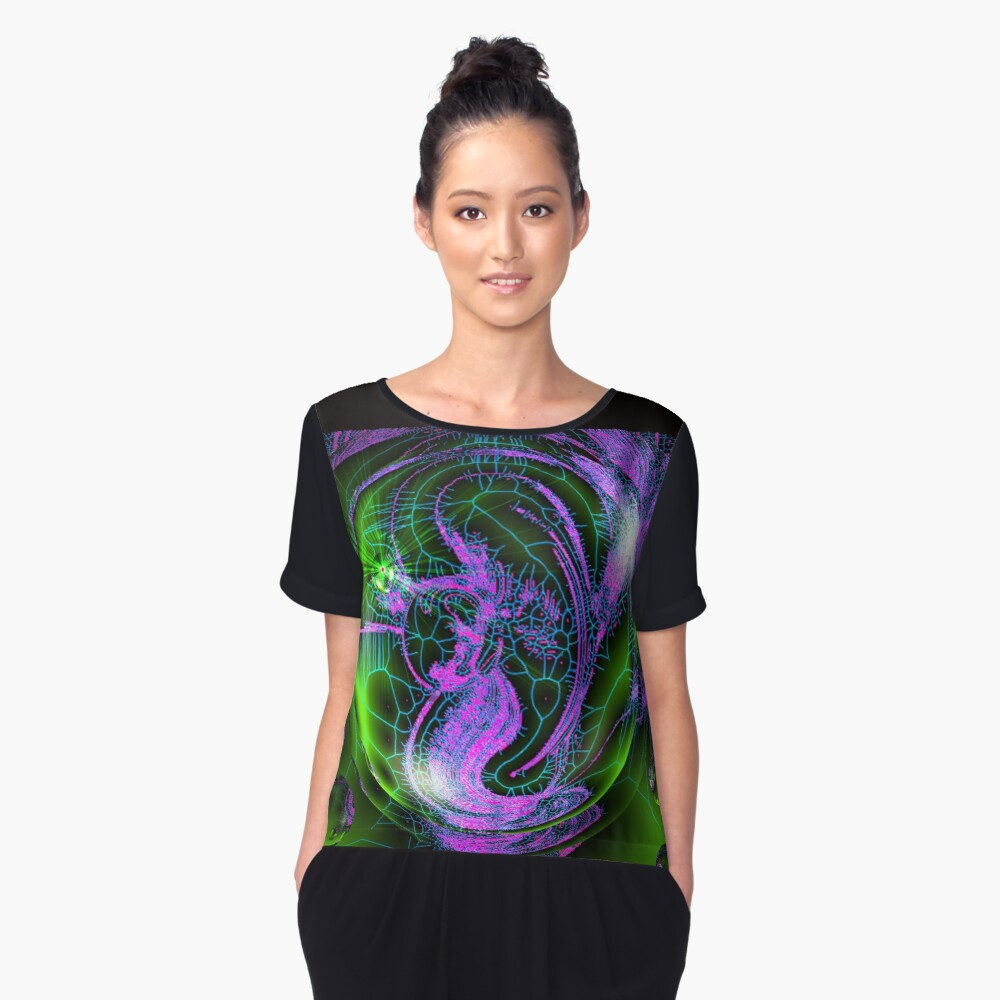 Mermaid In A Bubble Women's Chiffon Top Front