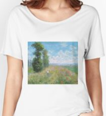 Claude Monet - Meadow With Poplars Women's Relaxed Fit T-Shirt