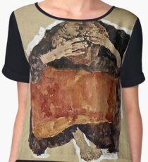 Egon Schiele -Troubled Woman  Chiffon Top