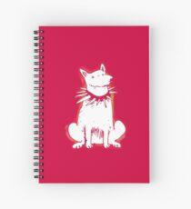 white dog red contour cartoon style illustration Spiral Notebook
