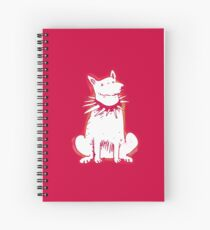 white dog red contour cartoon style illustration Spiral Notebook