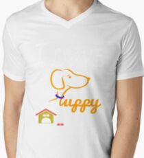 Funny Dog T-Shirt Mens V-Neck T-Shirt
