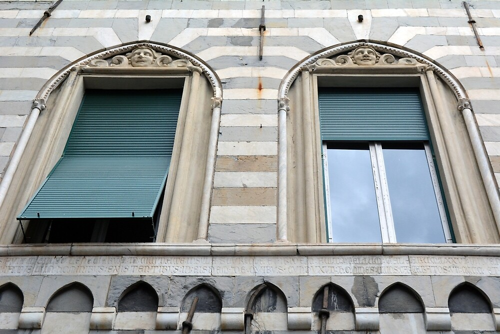 Two classical windows with decoration by oanaunciuleanu