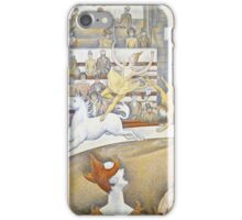 Georges Seurat -  The Circus (1891)  iPhone Case/Skin