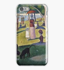 Georges Seurat -  A Sunday on La Grande Jatte -  1884 (1884 - 1886)  iPhone Case/Skin
