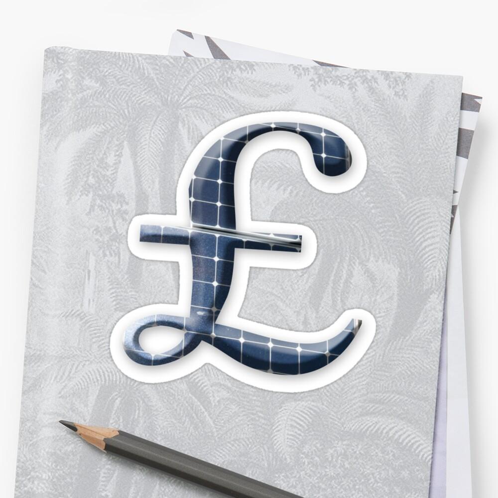 Uk pound symbol with photovoltaic solar panels stickers by uk pound symbol with photovoltaic solar panels by stuwdamdorp buycottarizona