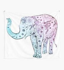 Painted Elephant Wall Tapestry