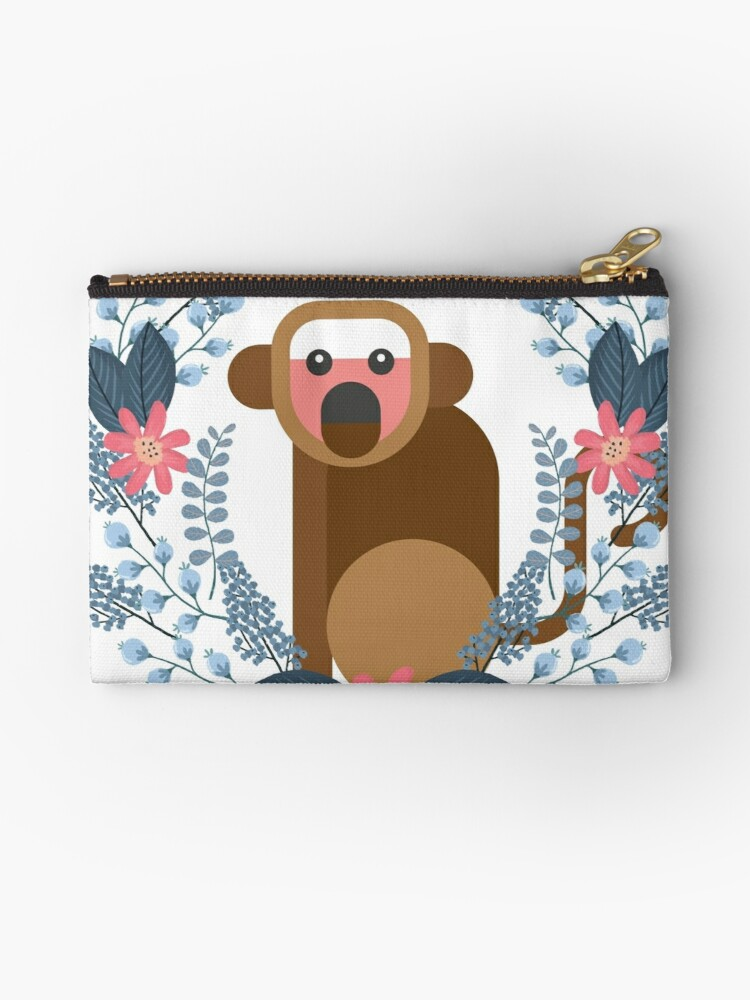 Floral Shock | Cute Monkey by cadinera