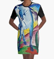 Franz Marc - Blue Horse I (1911)  Graphic T-Shirt Dress
