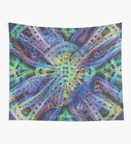 #DeepDream Temple Wall Tapestry