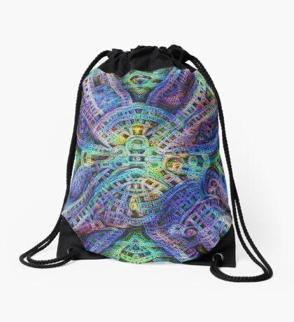 #DeepDream Temple Drawstring Bag