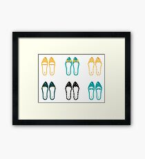 Cute Shoes collection. Vector Illustration Framed Print