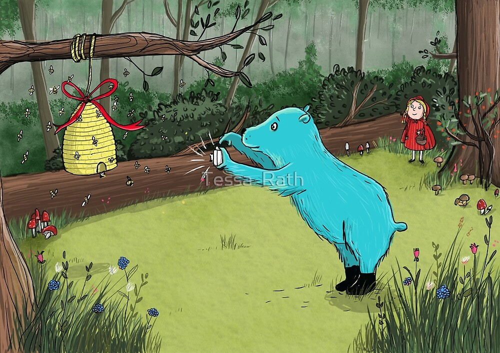Bear in the woods by Tessa  Rath