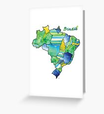 Watercolor Countries - Brazil Greeting Card