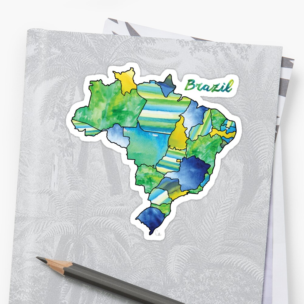 Watercolor Countries - Brazil by Erin McIntosh