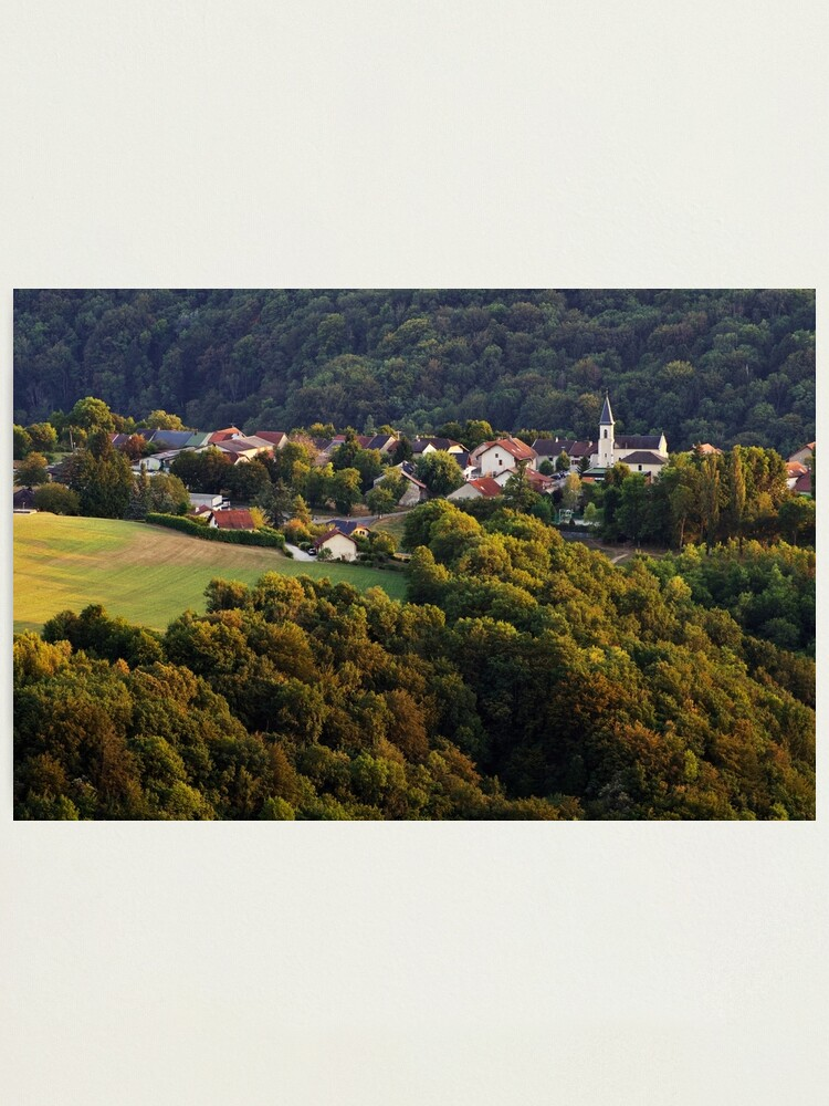 Alternate view of Evening light on Musieges village Photographic Print