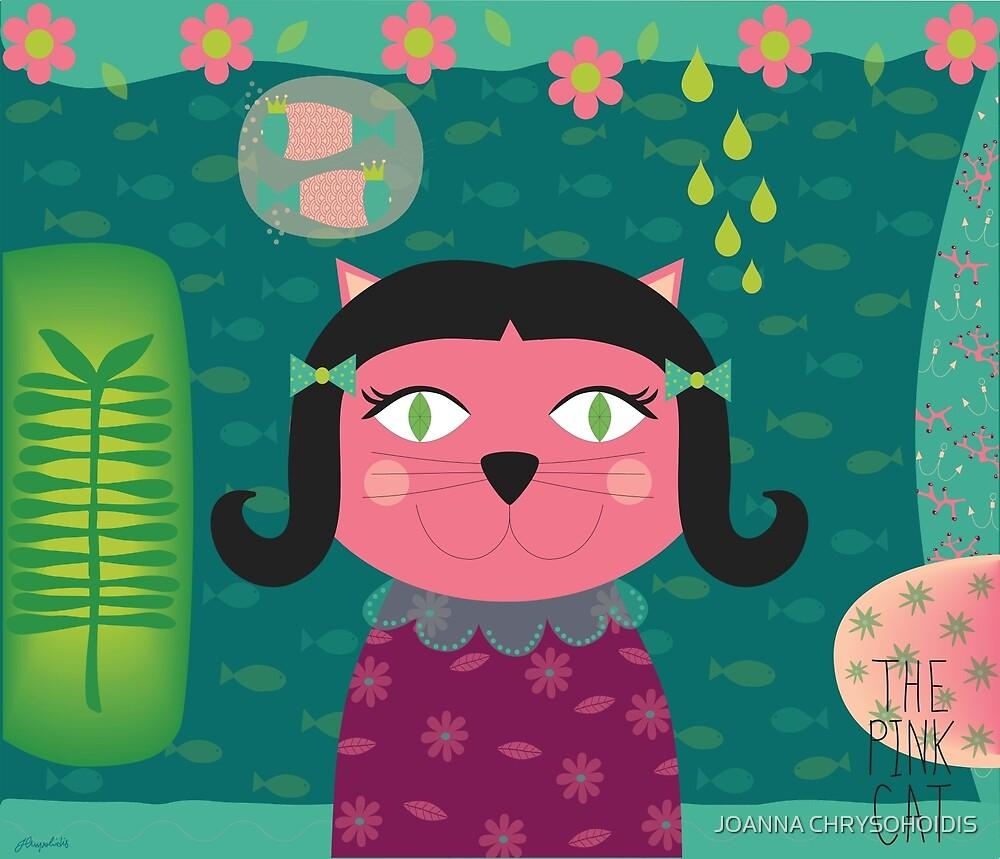Pink Cat by JOANNA CHRYSOHOIDIS