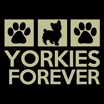 Yorkie - Yorkies Forever T-shirts by melissagordon