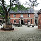 """"""" Stourhead Courtyard and Pub."""" by Malcolm Chant"""