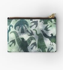 Ancient Green Birds Studio Pouch