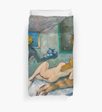 1875 - Paul Cezanne - Afternoon in Naples Duvet Cover