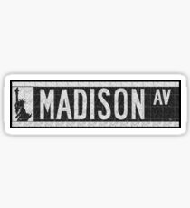 Pegatina Madison Avenue NYC Pop Art Deco Street Sign