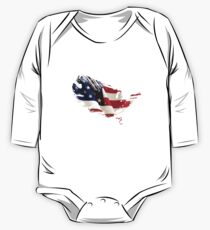 Patriot American Map Flag One Piece - Long Sleeve