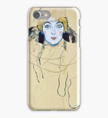 Gustav Klimt - Head Of A Woman  iPhone Case/Skin