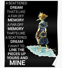 Kingdom Hearts Dream Quote Poster