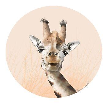 Giraffe of Sabana by patriciasanjuan