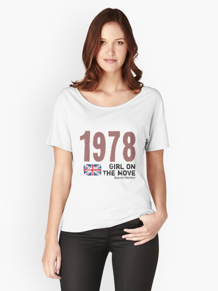 1978 Girl on The Move Women's Relaxed Fit T-Shirt Front