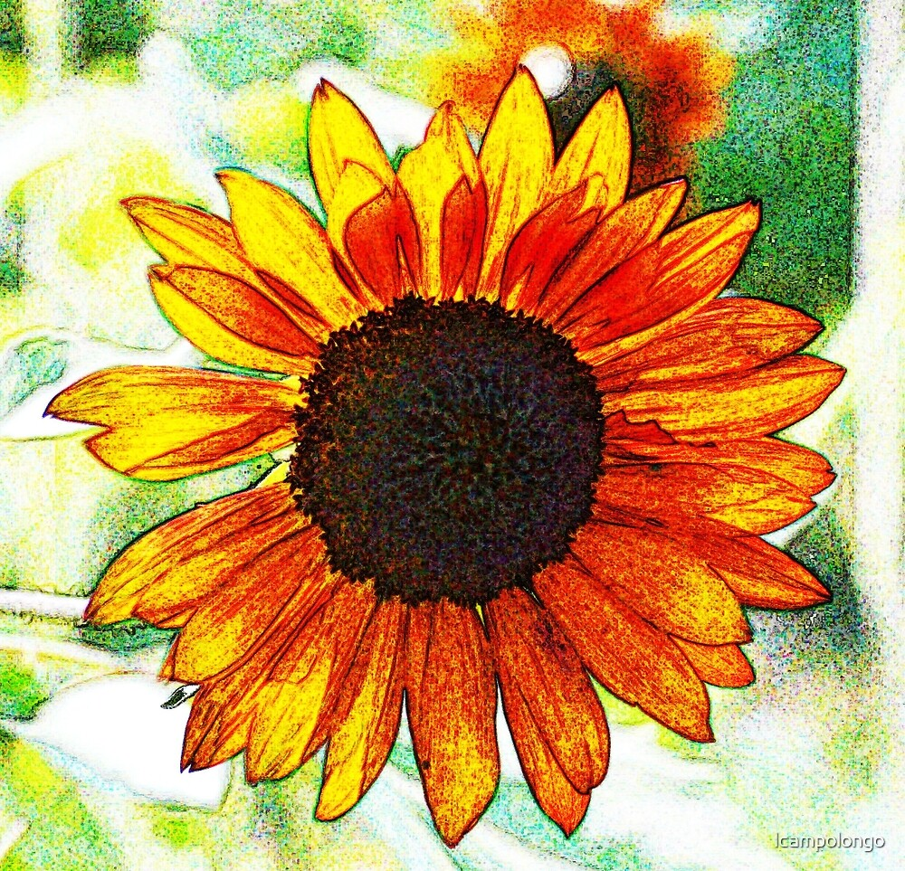 Sunny Sunflower - Abstract by lcampolongo