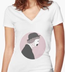 A Change Of Heart - GuyClown Fitted V-Neck T-Shirt