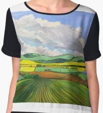 South Australian Canola fields via Yacka # 4 Women's Chiffon Top