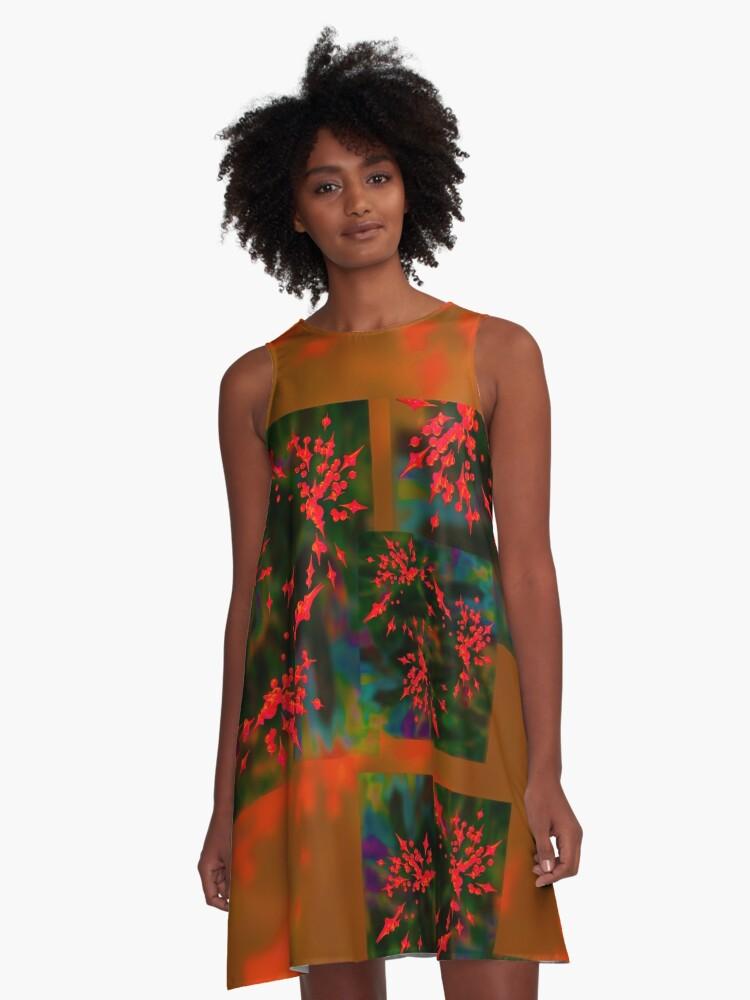 20160912 Bubbles no. 1 A-Line Dress Front