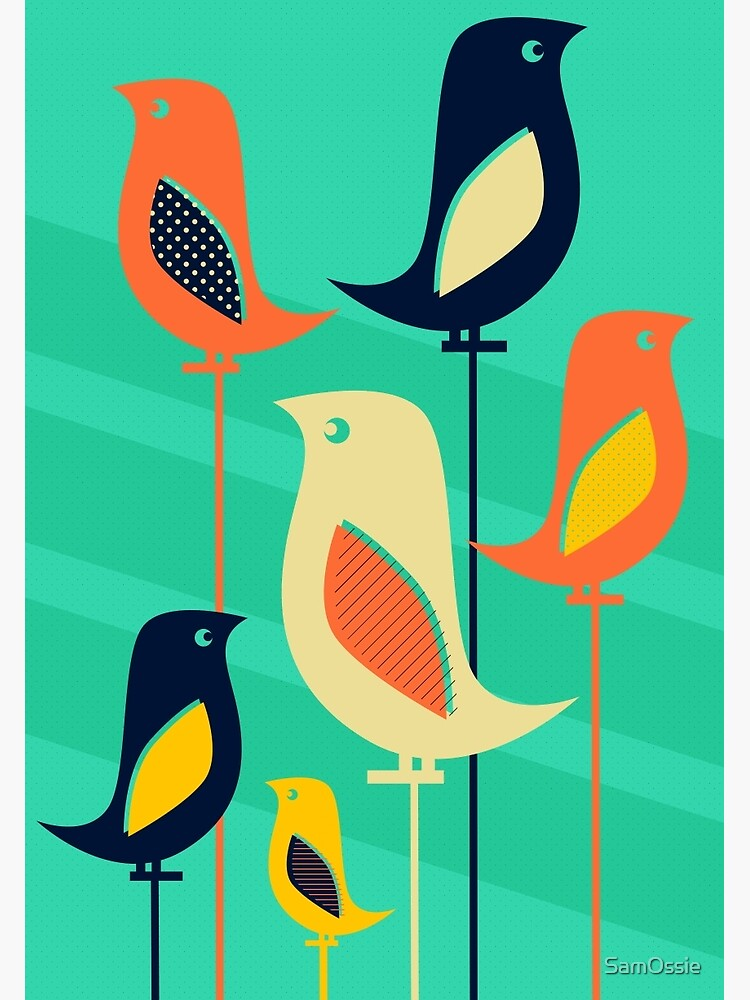 Mid Century Bird Illustration by SamOssie