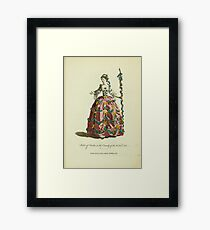 Habit of Perdita in the comedy of the Winter's Tale Perdita dans la comédie intitulée The Winter's Tale 371 Framed Print