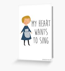 Sound of music maria Greeting Card