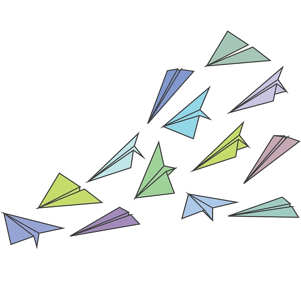 origami airplane by kate00