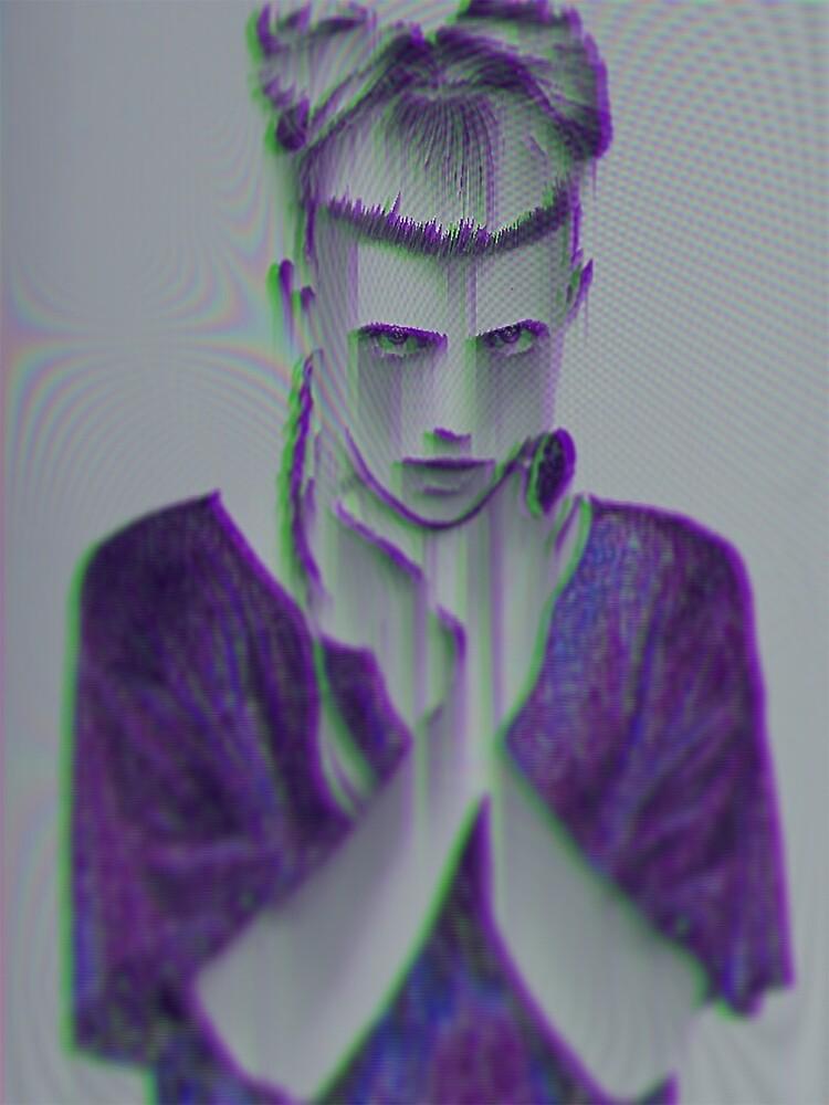 Purple freak (Grimes glitch art) by AudetoriLV