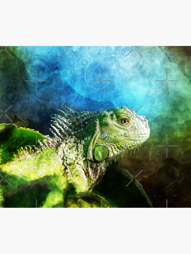 Blue And Green Iguana Profile by perkinsdesigns