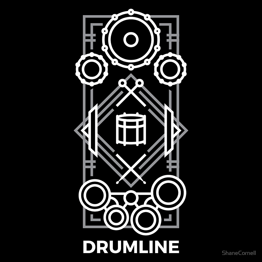 Drumline - White & Gray by ShaneCornell