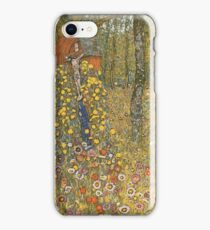 Gustav Klimt - Farm Garden With Crucifix 1912 iPhone Case/Skin